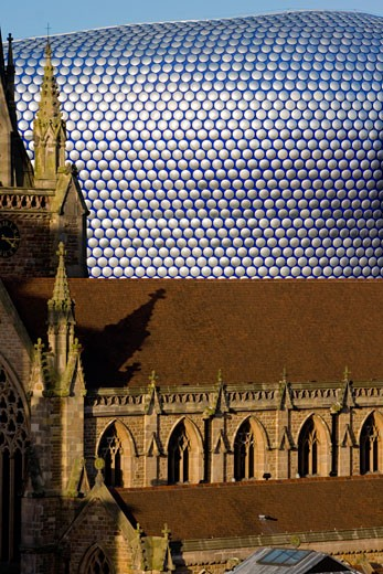 St Martin in the Bull Ring church,  Birmingham, England : Stock Photo