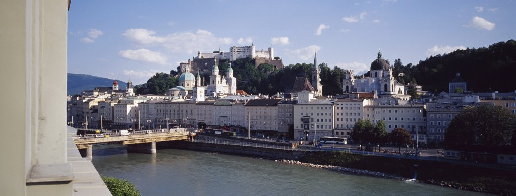 Hohensalzburg Fortress and city, Salzburg, Austria. : Stock Photo