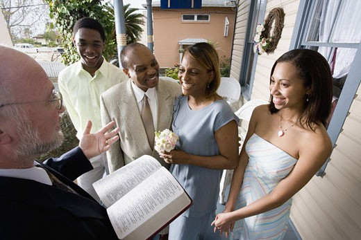 Stock Photo: 1785R-1123 African American couple renewing vows