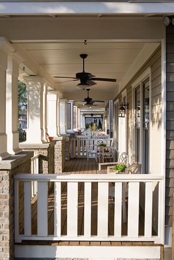 Front porch of house : Stock Photo