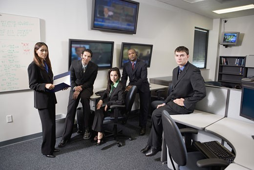 Team meeting in an office : Stock Photo