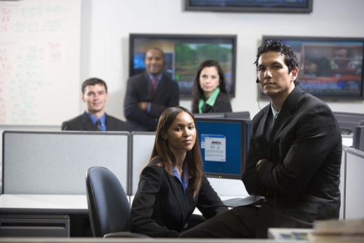 Stock Photo: 1785R-5379 Business people working in an office