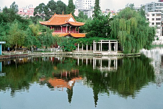 Cuihu Park, Kunming City, Yunnan Province, People's Republic of China, : Stock Photo