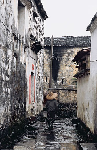 Stock Photo: 1787R-2477 Ming and Qing dynasty ancient buildings of Yan village, Wuyuan County, Jiangxi Province of  People's Republic of China,