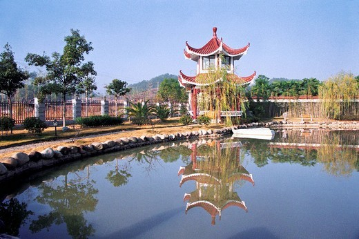 Summerhouse, Wuyishan City, Fujian Province, People's Republic of China : Stock Photo