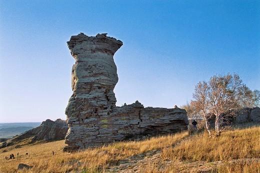 The landscape of Asihatu, Keshiketengqi, Chifeng City Inner Mongolia Autonomous Region of People's Republic of China : Stock Photo