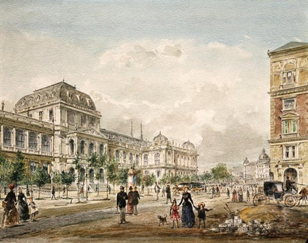 Austria, Vienna, View of the University : Stock Photo