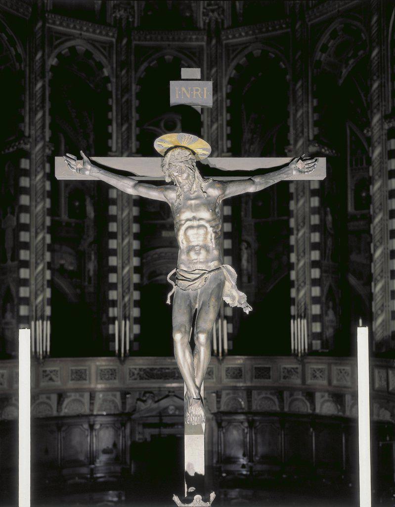 Italy - Veneto Region - Padua - Basilica of St. Anthony - Bronze Crucifix by Donatello : Stock Photo