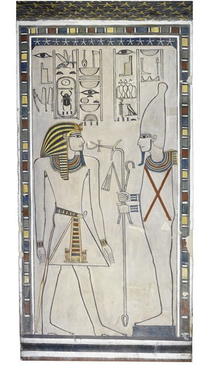 Stock Photo: 1788-10339 Egypt, Thebes, Luxor, Valley of the Kings, Mural paintings, Burial chamber, Tomb of Amenhotep II