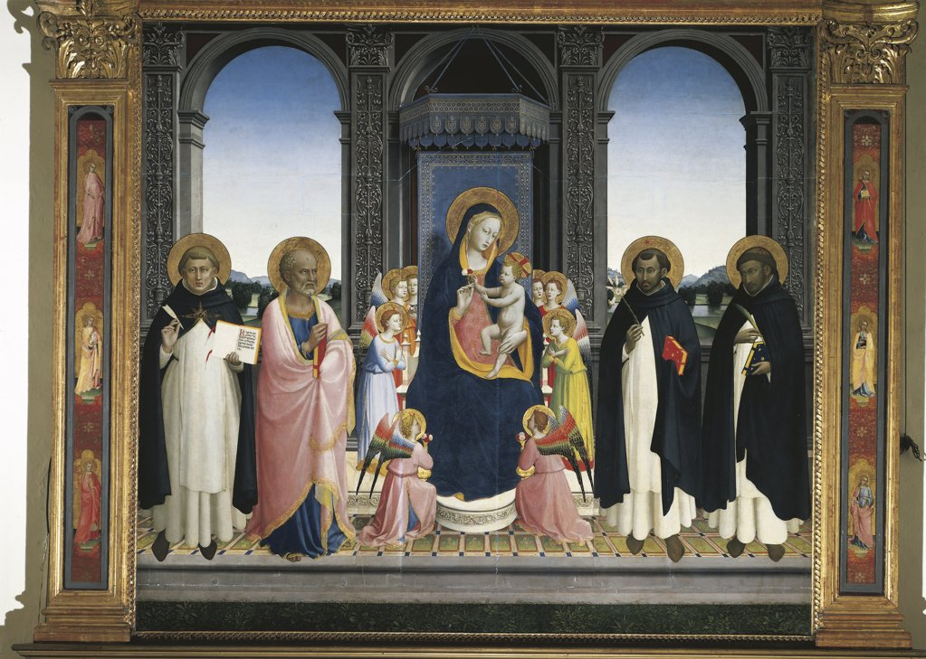 Stock Photo: 1788-1058 Italy - Tuscany Region - Fiesole - Convent  of St. Dominic - Fiesole Altarpiece by Beato Angelico