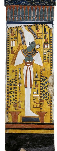 Stock Photo: 1788-10624 Egypt, Thebes, Luxor, Valley of the Queens, Tomb of Nefertari, mural painting of Osiris in Burial chamber from 19th dynasty