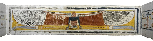 Egypt, Thebes, Luxor, Valley of the Kings, Tomb of Ramses VI, mural paintings on corridor ceiling from 20th dynasty : Stock Photo
