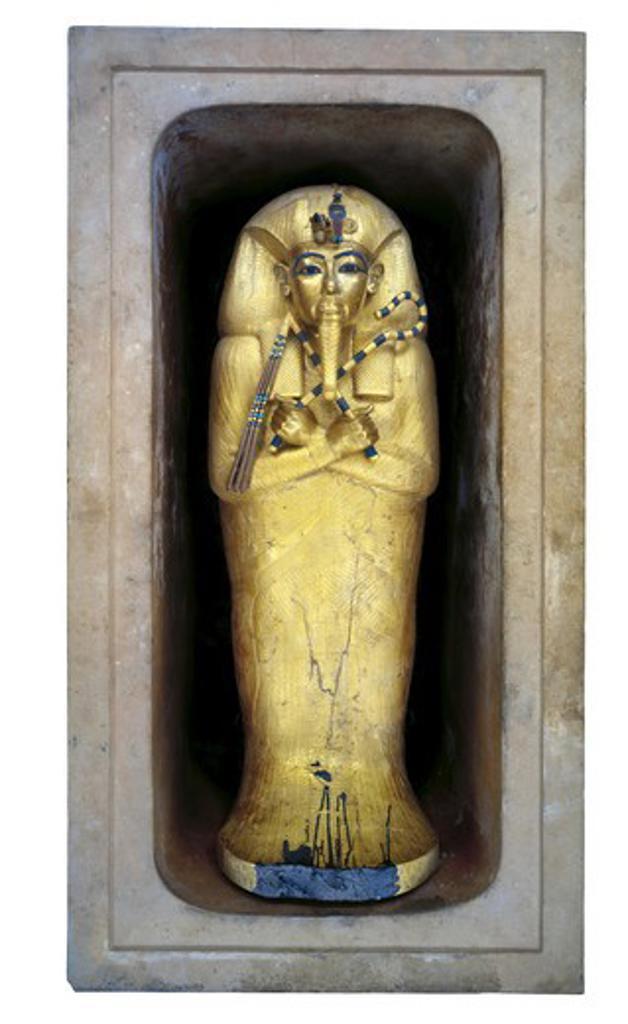 Stock Photo: 1788-10739 Egypt, Thebes, Luxor, Valley of the Kings, Tomb of Tutankhamen, Sarcophagus of pharaoh
