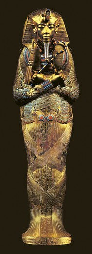 Egypt, Thebes, Luxor, Valley of the Kings, Tomb of Tutankhamon, coffin of Pharaoh Osiris, from Tutankhamon period : Stock Photo