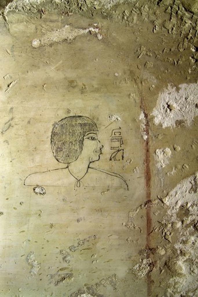 Stock Photo: 1788-10870 Egypt, Thebes, Luxor, Sheikh 'Abd al-Qurna, Tomb of high steward architect Senenmut, Drawings, Senenmut