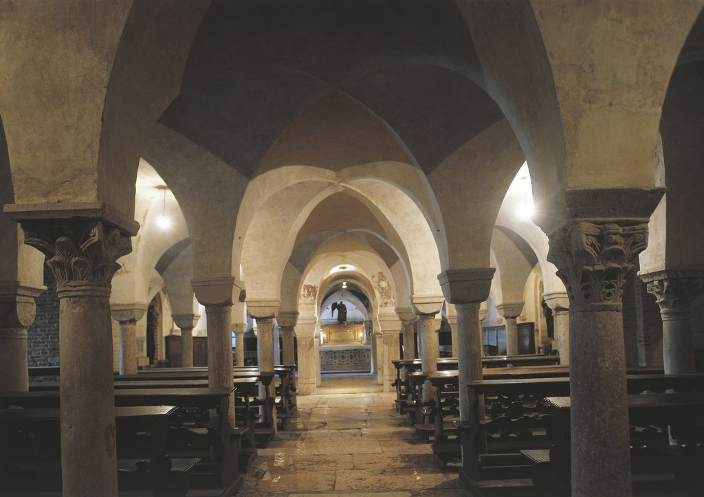 Italy - Veneto Region - Treviso - Cathedral crypt : Stock Photo