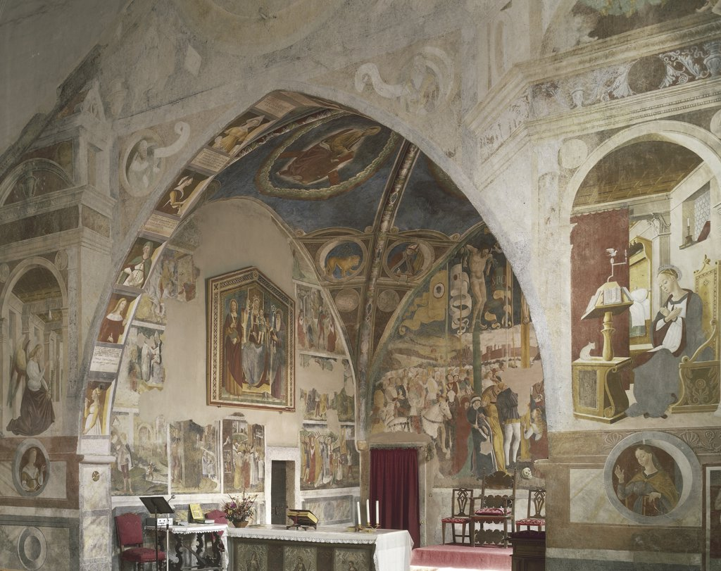 Italy - Lombardy Region - Caffaro Valley - Bagolino - Church of St. Rocco - Frescoes : Stock Photo