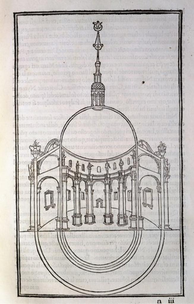 Hypnerotomachia Poliphili, Architecture Study by Francesco Colonna, 1499, engraving : Stock Photo