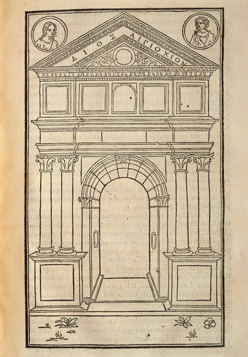 Hypnerotomachia Poliphili, Study for Arch by Francesco Colonna, 1499, Engraving : Stock Photo