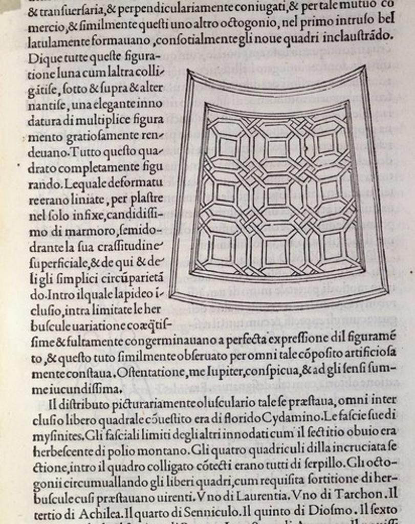 Stock Photo: 1788-11342 Hypnerotomachia Poliphili, Study for Garden by Francesco Colonna, 1499, engraving