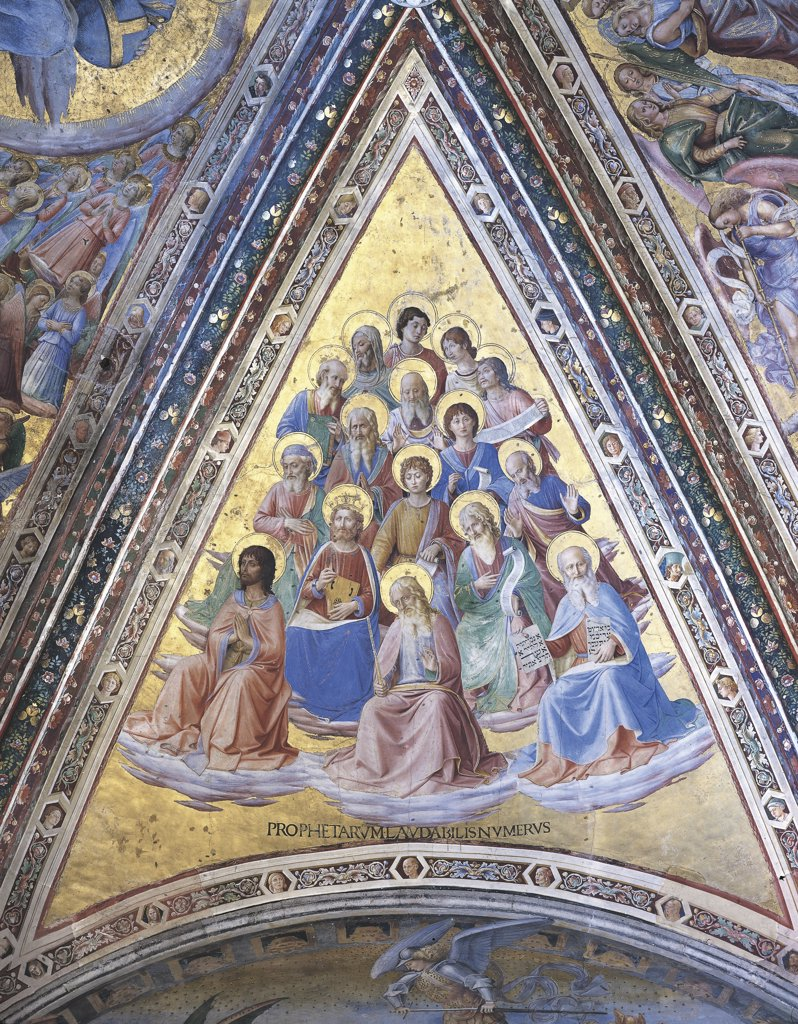 Stock Photo: 1788-1162 Italy - Umbria Region - Orvieto - Cathedral - Chapel of St. Brizio - Fresco by Beato Angelico