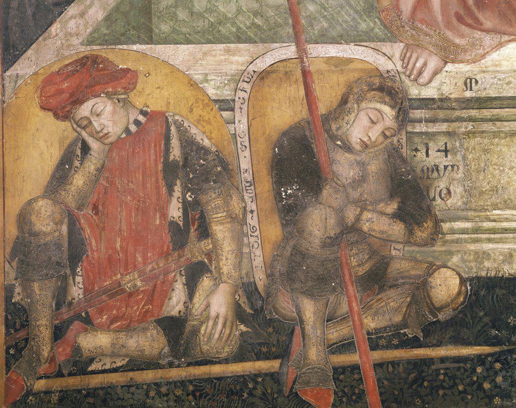 Italy - Emilia Romagna Region - Ferrara - Oratory of the Annunciation - Fresco - Resurrection - Detail : Stock Photo
