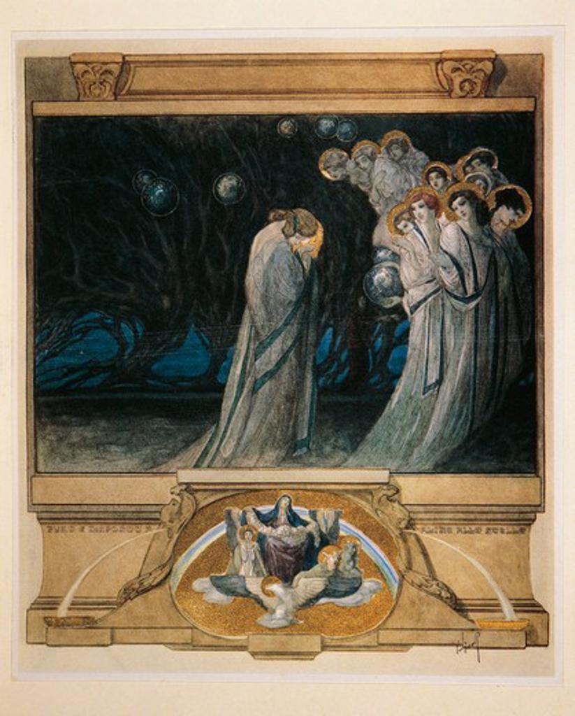 Purgatorio (Purgatory) by Franz von Bayros, 1921, Illustration : Stock Photo