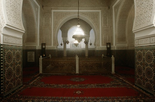 Stock Photo: 1788-11778 Morocco, Meknes, Mausoleum of Moulay Ismail, interior, shrine