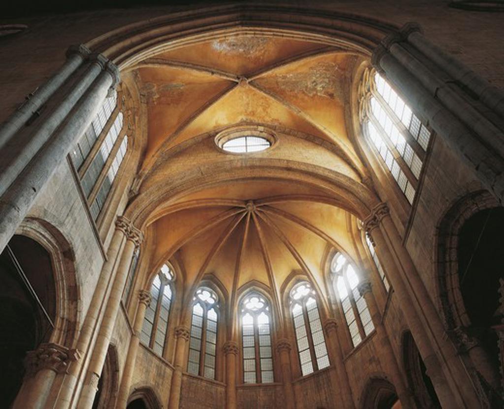 Italy, Campania, Naples, basilica of San Lorenzo Maggiore interior, apse vault : Stock Photo