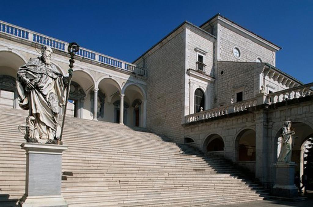 Italy, Lazio Region, Frosinone Province, Montecassino Abbey, main staircase : Stock Photo