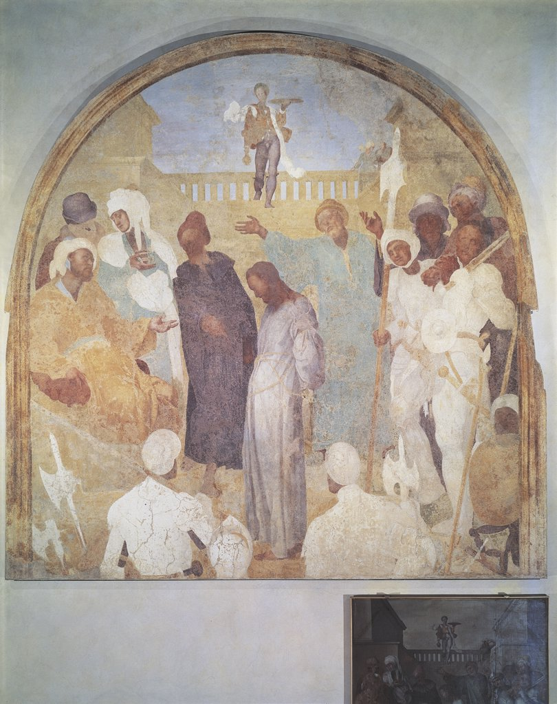 Stock Photo: 1788-1206 Italy - Tuscany Region - Florence - Galluzzo Charterhouse - Christ in front of Pilate by Pontormo (Jacopo Carrucci)