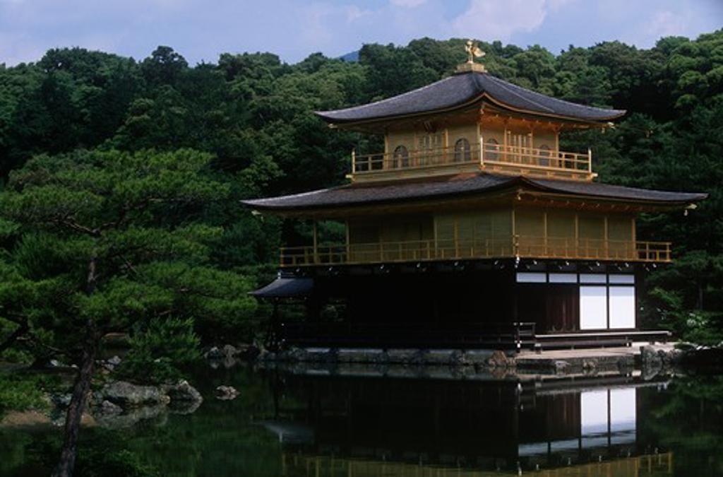 Japan, Kansai, Kyoto, Kinkaku-ji Temple or Temple of the Golden Pavilion , 1397 : Stock Photo