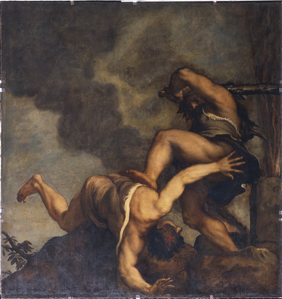 Italy - Veneto Region - Venice - Cain and Abel by Tiziano : Stock Photo