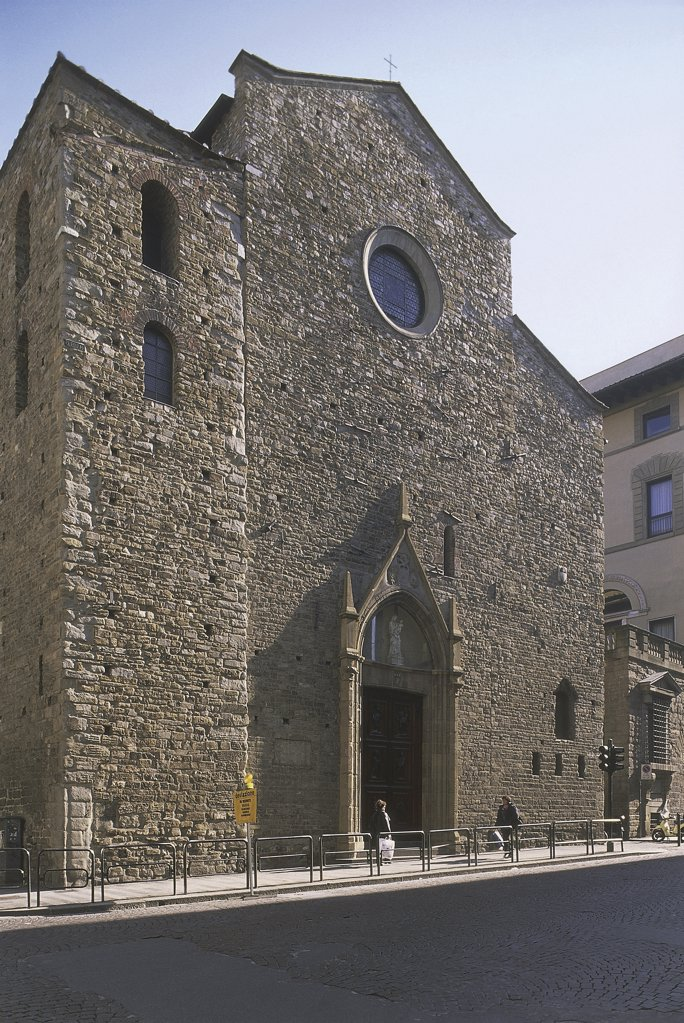 Low angle view of a church, Church of St. Maria Maggiore, Florence, Tuscany Region, Italy : Stock Photo