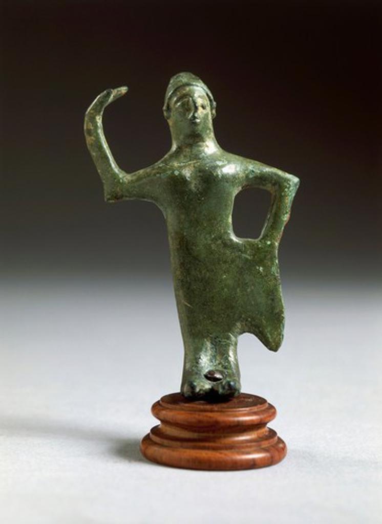 Stock Photo: 1788-15152 Italy, Arezzo Province, Bronze statue depicting a female dancer, from Fonte Veneziana