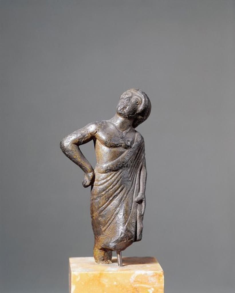 Stock Photo: 1788-15165 Bronze statue depicting augur, ancient Roman religious official