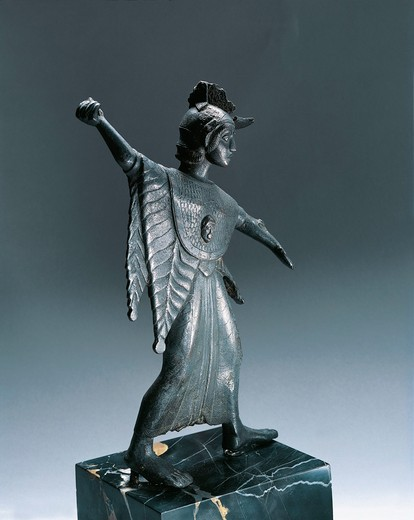 Stock Photo: 1788-15176 Bronze statue depicting fighting Minerva