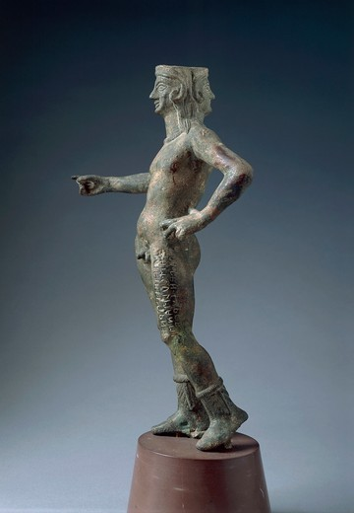 Stock Photo: 1788-15182 Italy, Arezzo Province, Cortona, Bronze statue of God Culsans