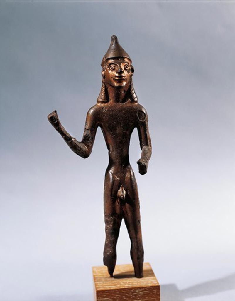 Bronze statue of warrior : Stock Photo