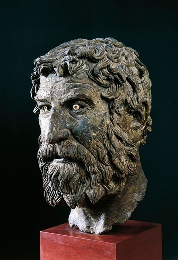 Stock Photo: 1788-15808 Bronze head of a philosopher from Antikythera, Greece