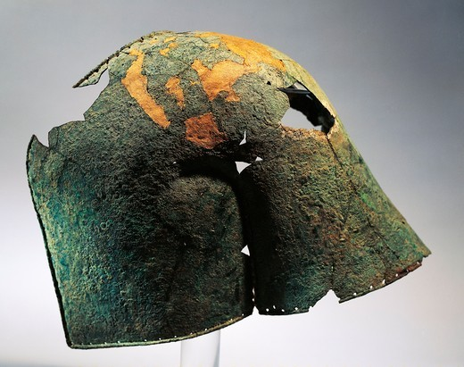 Stock Photo: 1788-15994 Mycenaean civilization, bronze shoulder covering part of an armor, from Dendera, Egypt
