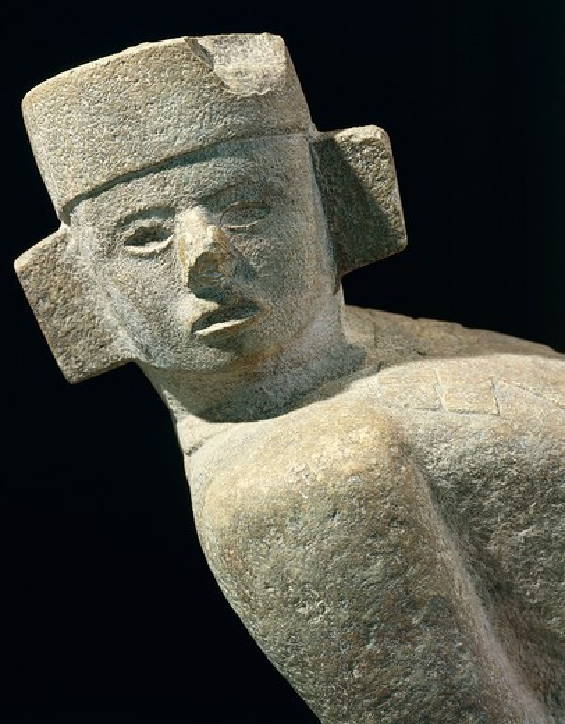 Maya civilization, Mexico, Statue of Chac Mool, From Chichen Itza : Stock Photo