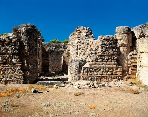 Stock Photo: 1788-16568 Greece, Peloponnesus, Epidaurus, Sanctuary of Asclepius, ruins of Abaton