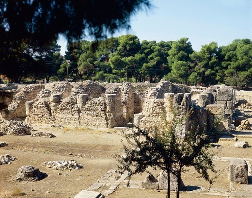 Stock Photo: 1788-16569 Greece, Peloponnesus, Epidaurus, Sanctuary of Asclepius, ruins of Abaton