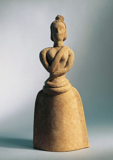 Stock Photo: 1788-16627 Terracotta female idol, from Piskokephalo, Crete