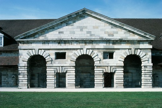 Stock Photo: 1788-16945 France, Franche-Comte, Arc-et-Senans, royal saltworks, designed by Claude-Nicolas Ledoux, 1771