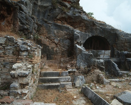 Stock Photo: 1788-17117 Turkey, Aegean Region, Ancient Ephesus, Cave of the Seven Sleepers, 3rd century AD