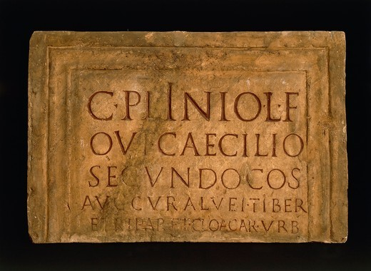 Stock Photo: 1788-17483 Epigraph of Pliny the Younger