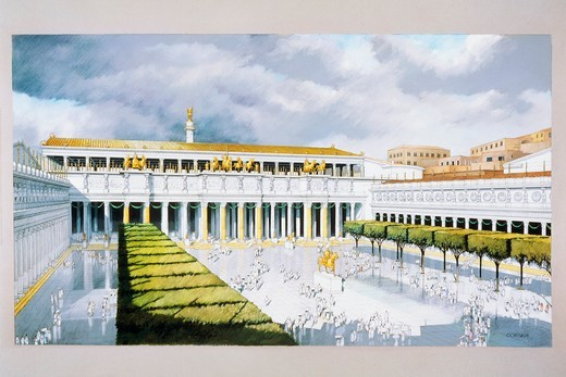 Stock Photo: 1788-17518 Italy, Rome, Reconstruction of the Forum of Trajan plaza