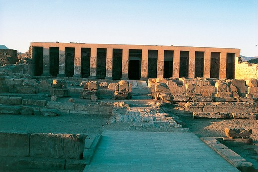 Stock Photo: 1788-17706 Egypt, Abydos, Temple of pharaoh Seti I, New Kingdom, Dynasty XIX